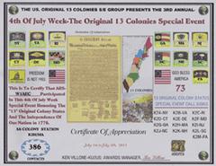 13 Colonies Certificate image